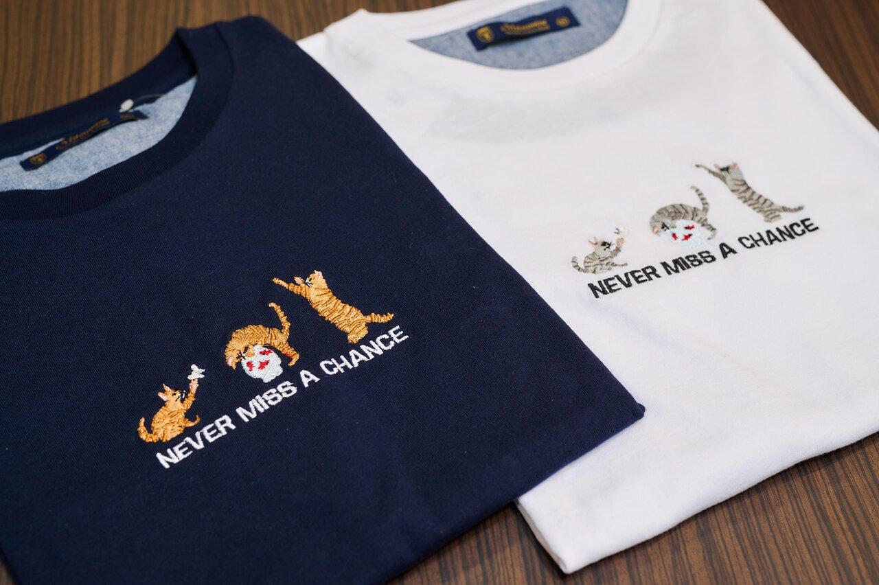 ミツミネの刺しゅう入りTシャツ