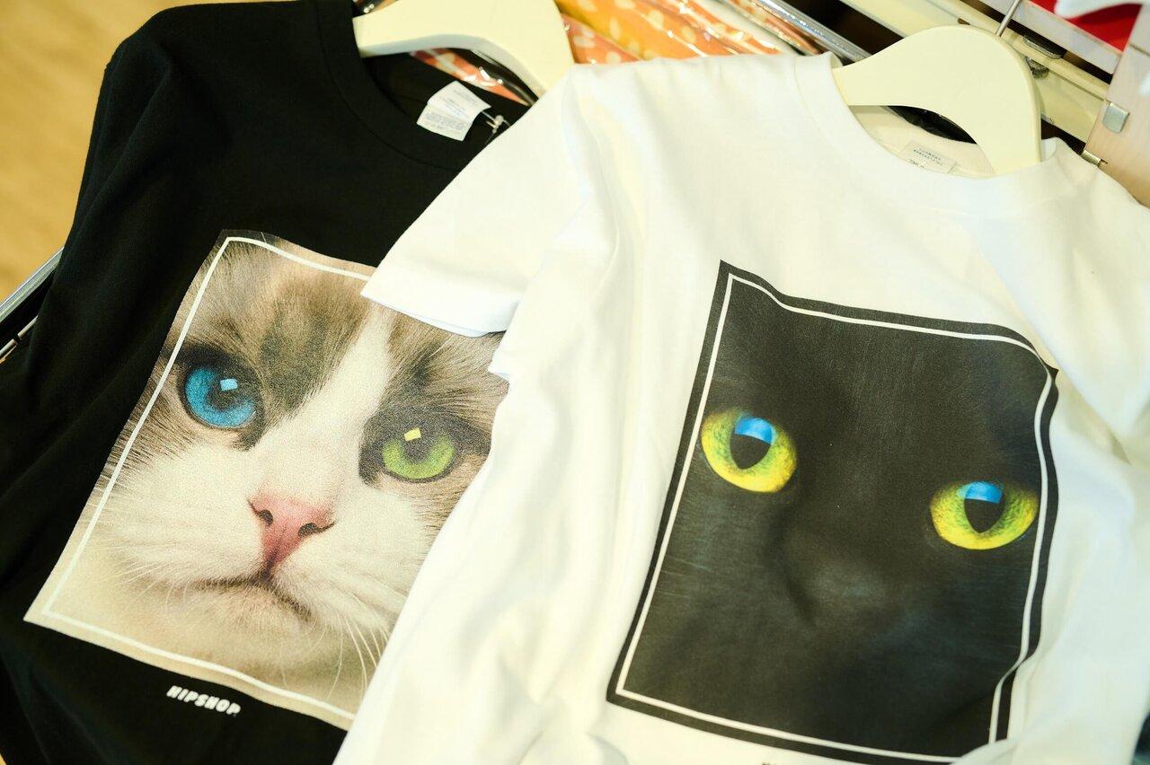 ヒップショップの猫Tシャツ