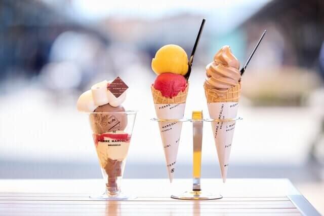ピエールマルコリーニのアイスクリームとソフトクリームとパフェ