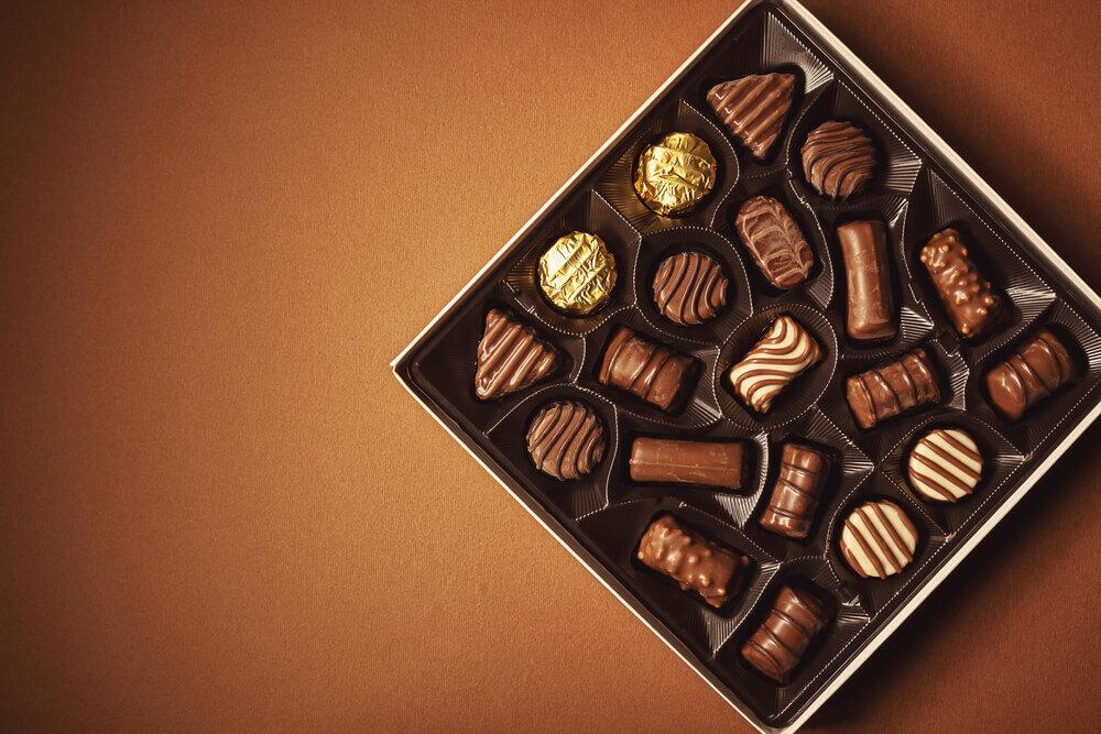 高級チョコレートのギフトボックス