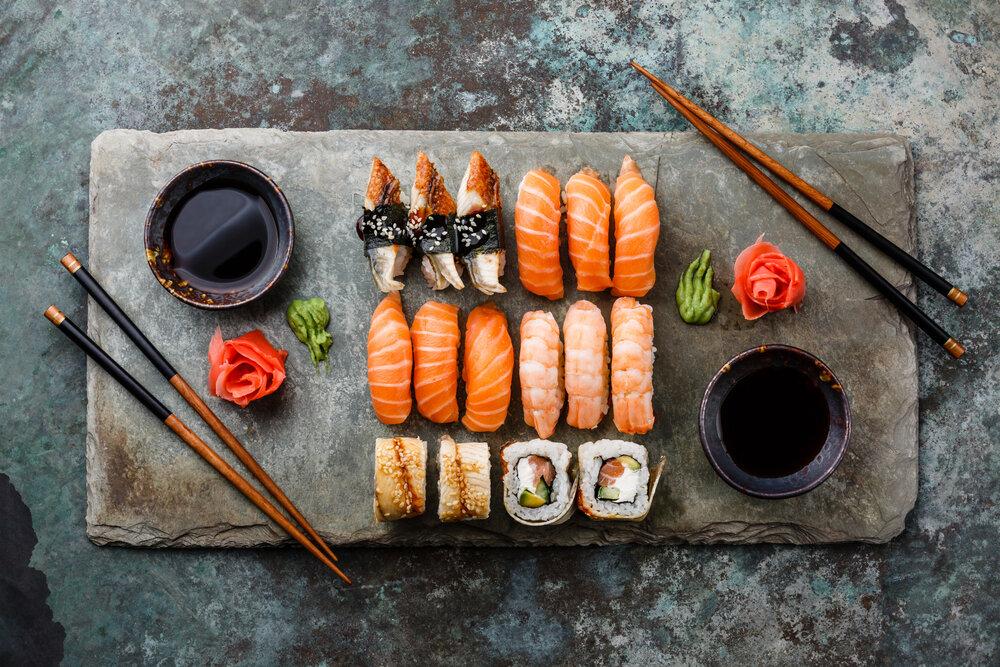 色とりどりの寿司