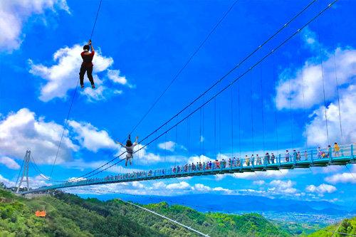 日本最長 富士を望む大吊橋 三島スカイウォーク