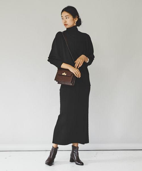 ウールリブタイトスカート