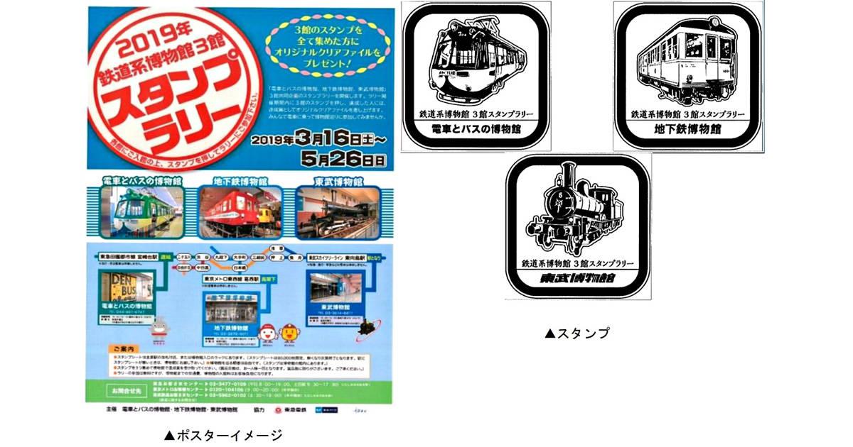 鉄道好きな親子はレッツ・チャレンジ!「電車とバスの博物館」「地下鉄博物館」「東武博物館」スタンプラリー