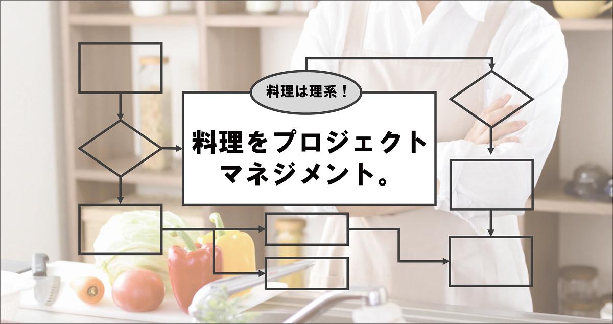 理系のための料理法を考える!料理をプロジェクトマネジメントする方法