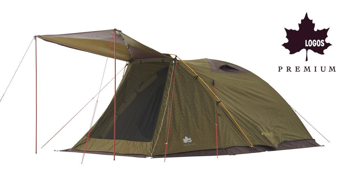 広くて出入りがスムーズなのに、シンプル構造で組み立てやすい!大人5人用シングルドームテント「プレミアム PANELエアーズロックドーム XL-AH」新発売