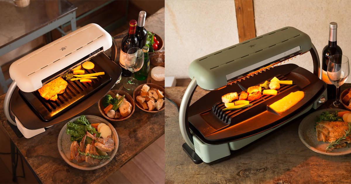 パパ料理のレパートリーを広げるチャンス!炭火焼のような本格グリル料理が作れる「Aladdin グラファイトグリラー」