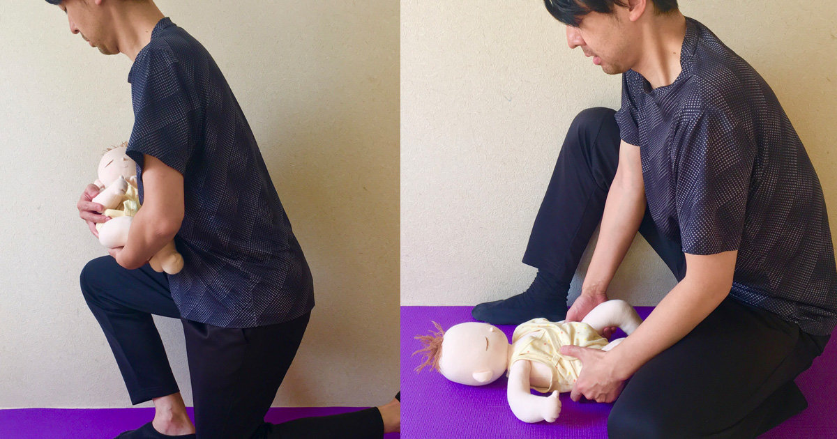 パパの腰を守れ!腰痛を防ぐ育児動作のキホン
