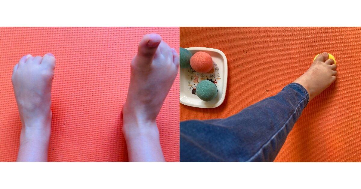 【運動不足によるケガを予防】親子でおうちトレーニング!足の指をきたえる運動遊び
