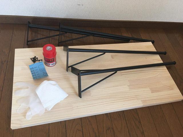 シンプル机,材料