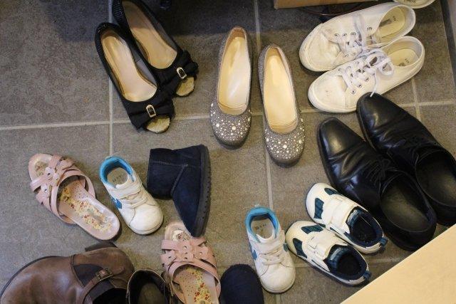 玄関,靴掃除