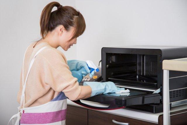 キッチン,電子レンジ掃除