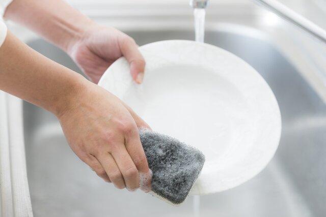 パパ,皿洗い