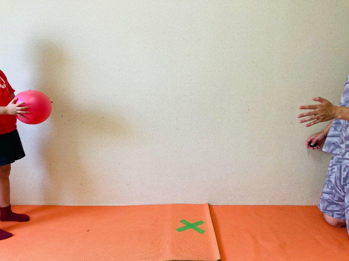 協応性,親子ボール遊び