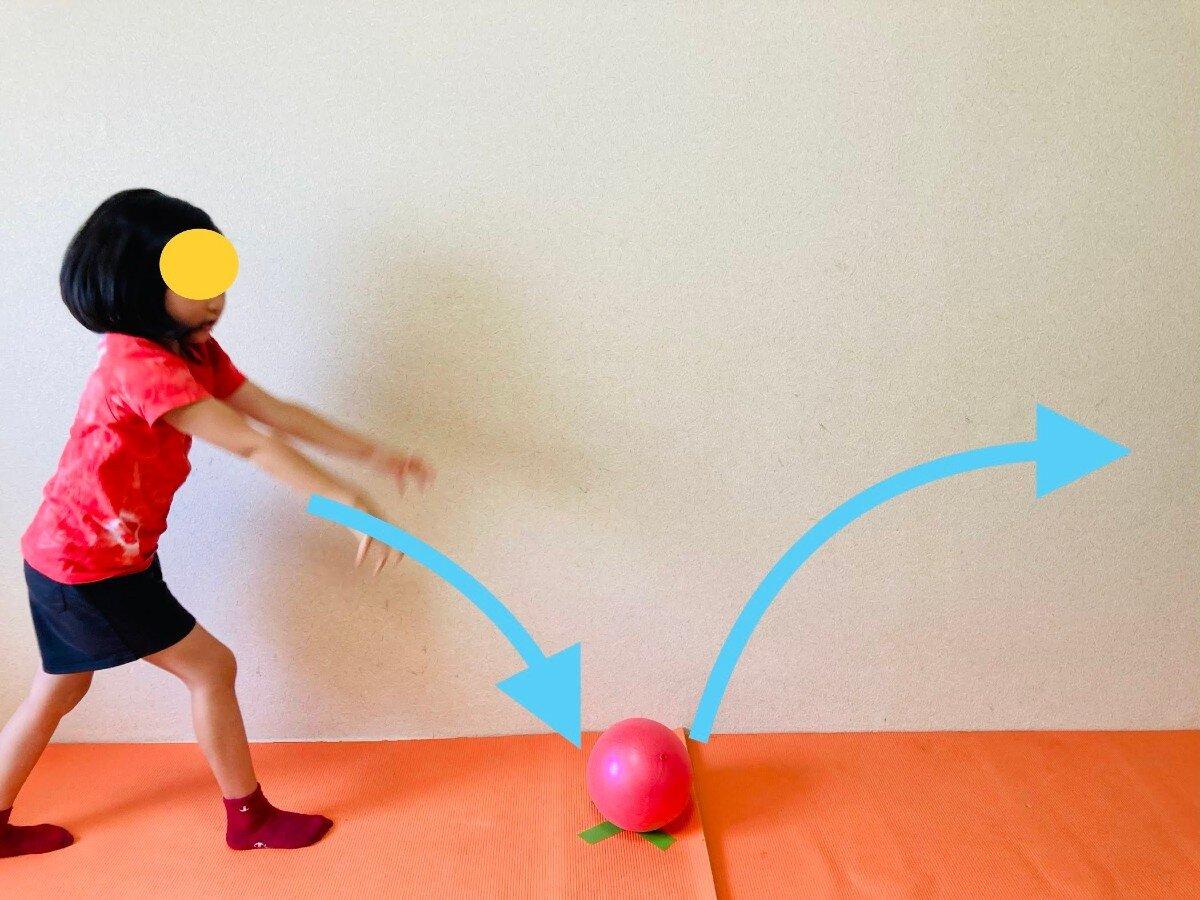 バウンドキャッチボール,親子ボール遊び