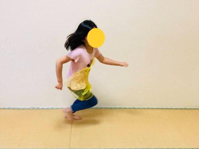 親子トレーニング,全力ダッシュ