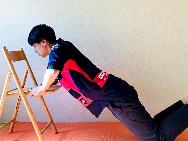 椅子トレーニング,チェア・プッシュアップ