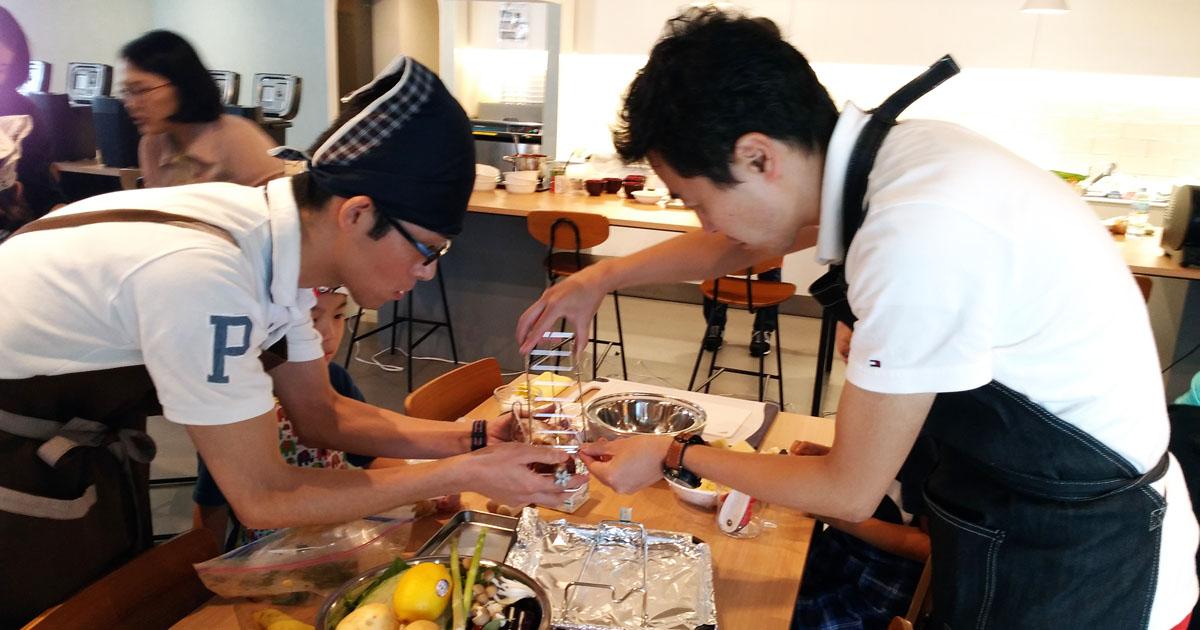 家men,パナソニック,第1回料理教室