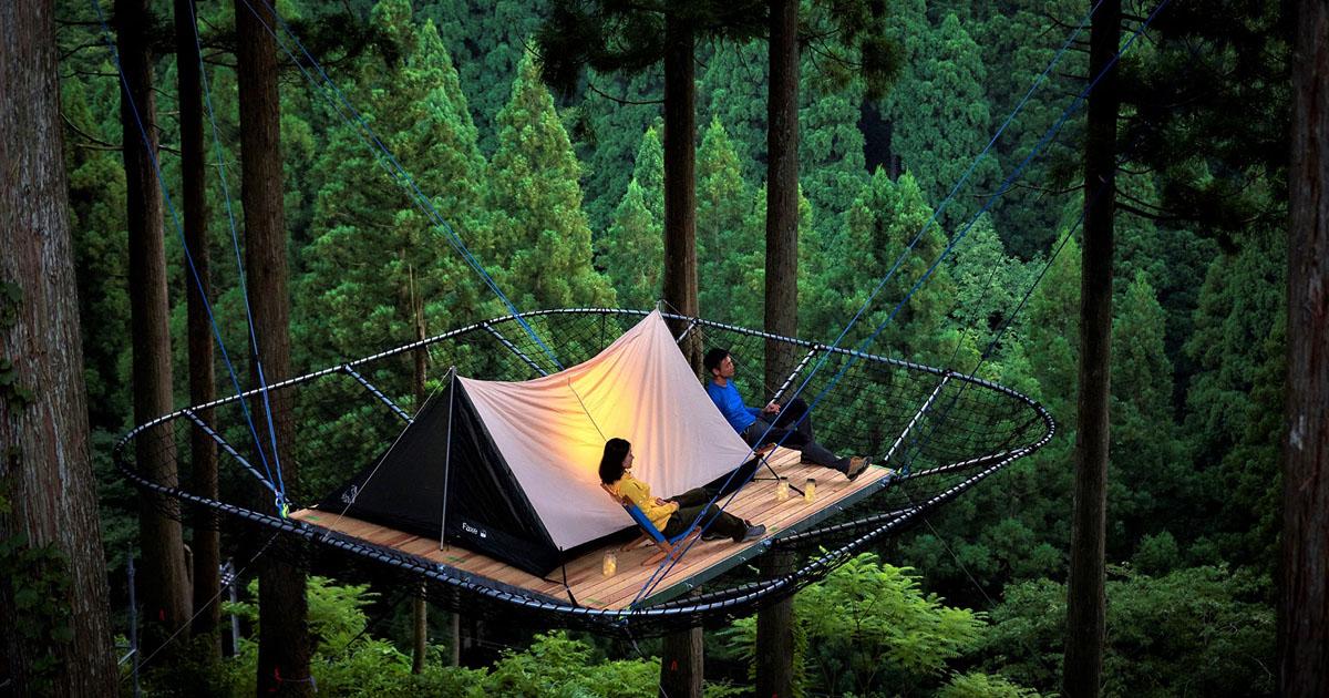 家men,樹上のテントサイト