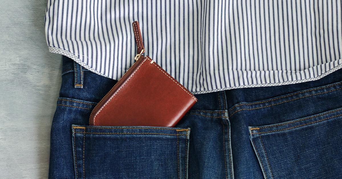家men,お手入れ,革財布