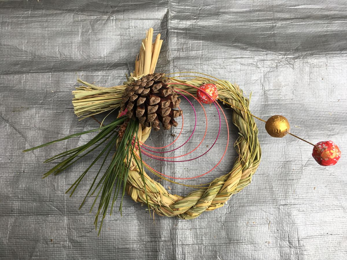お正月飾り,しめ縄,作り方,DIY,家men