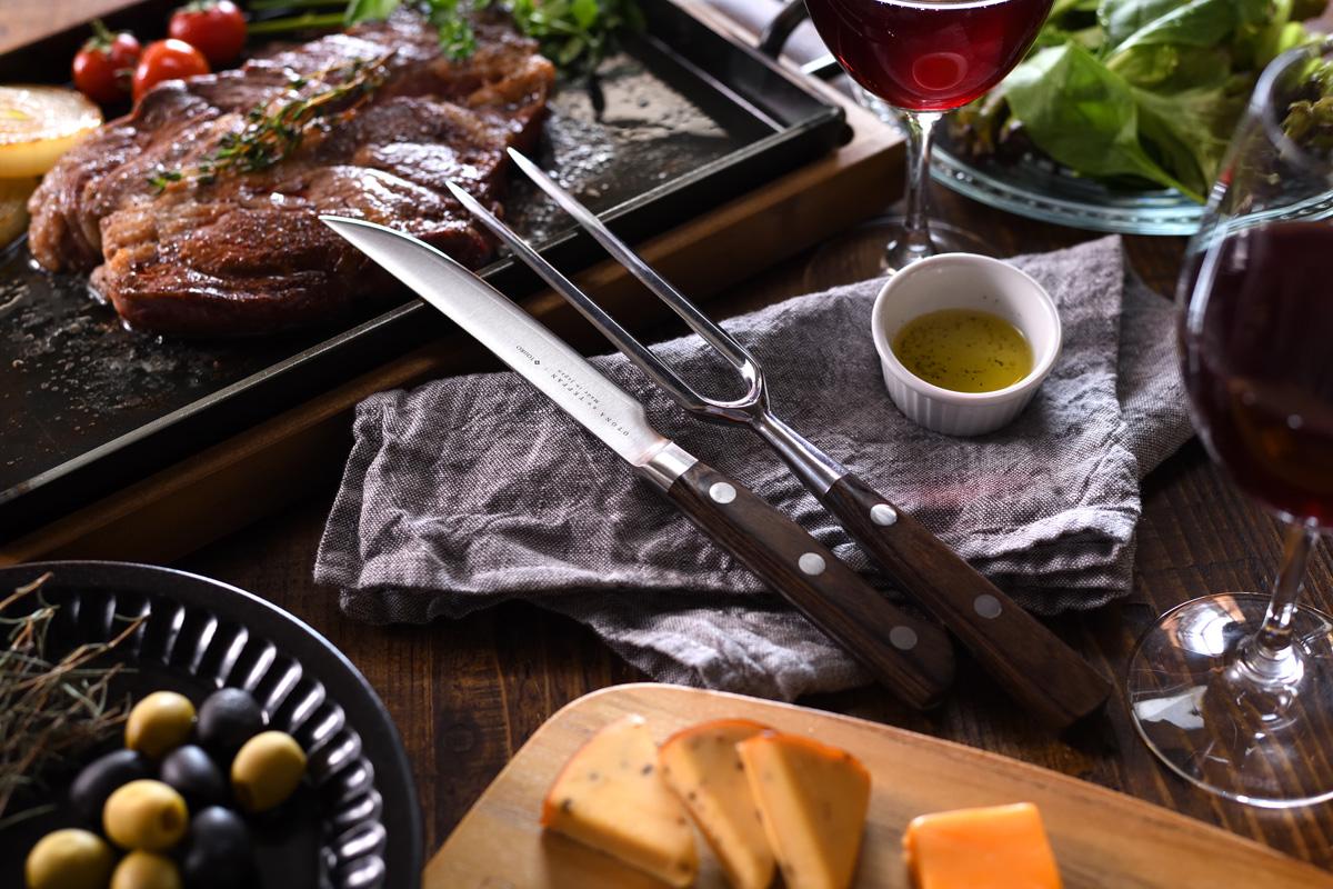 オークス,ステーキ,スーパー,肉,大人の鉄板,ステーキナイフ,フォーク,家men