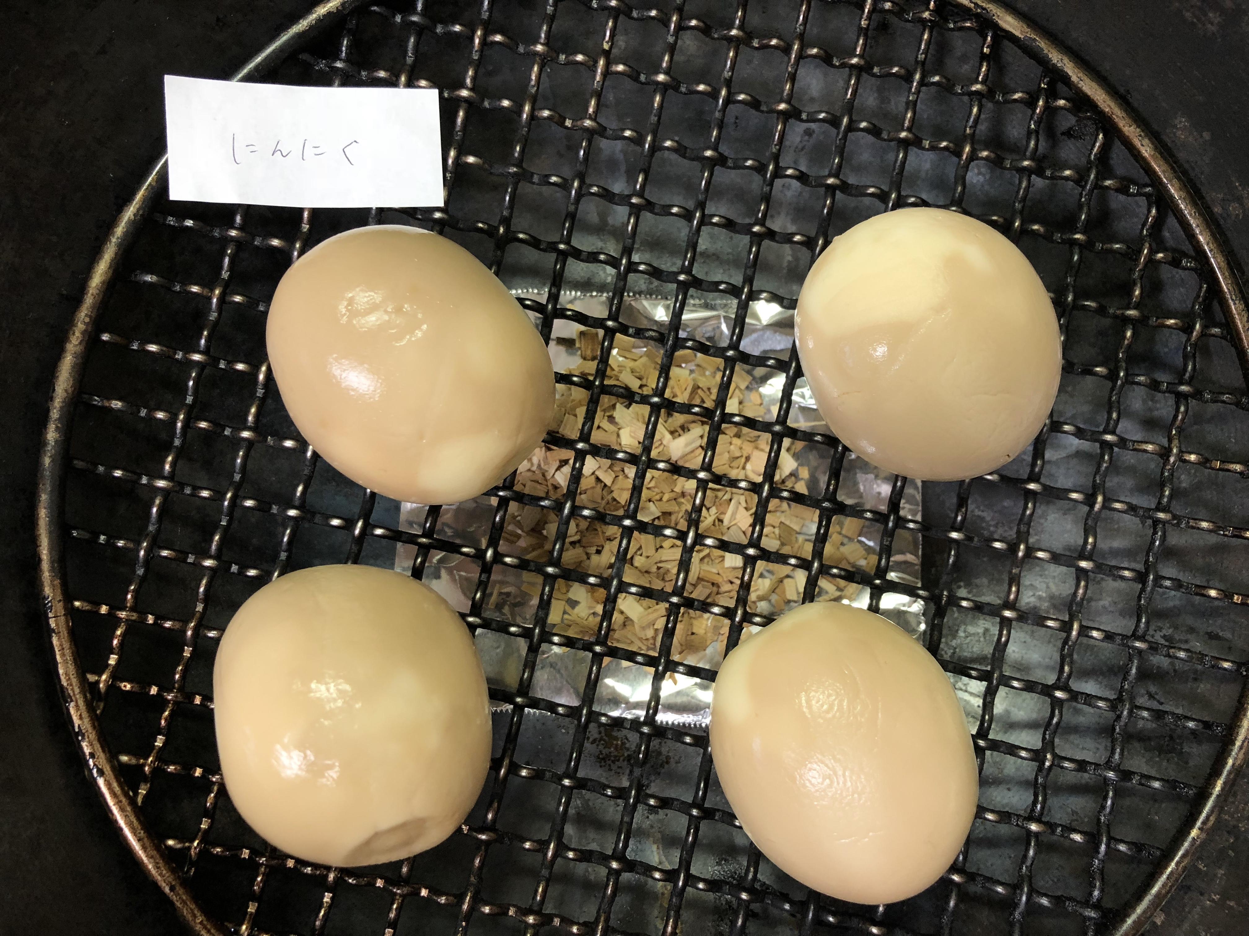 家men,燻製,燻製卵,くんたま,味玉,スモーカー,網