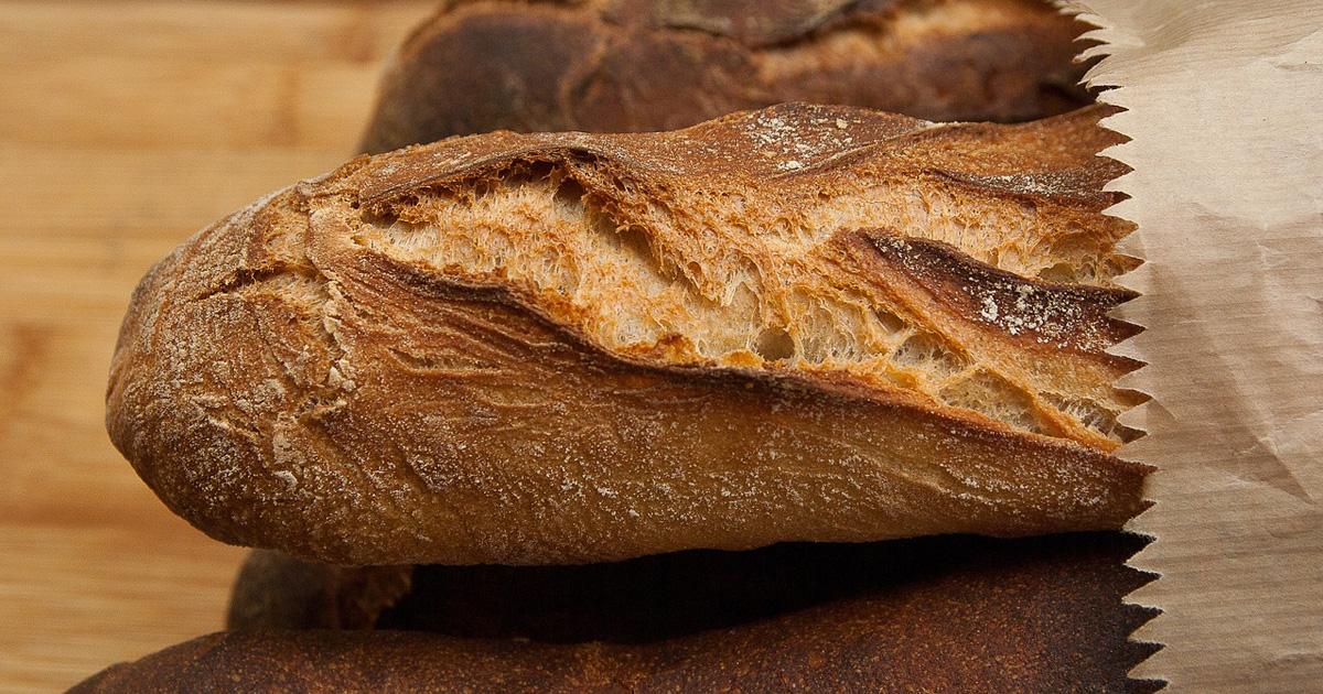家men,フランスパン,焼き直し