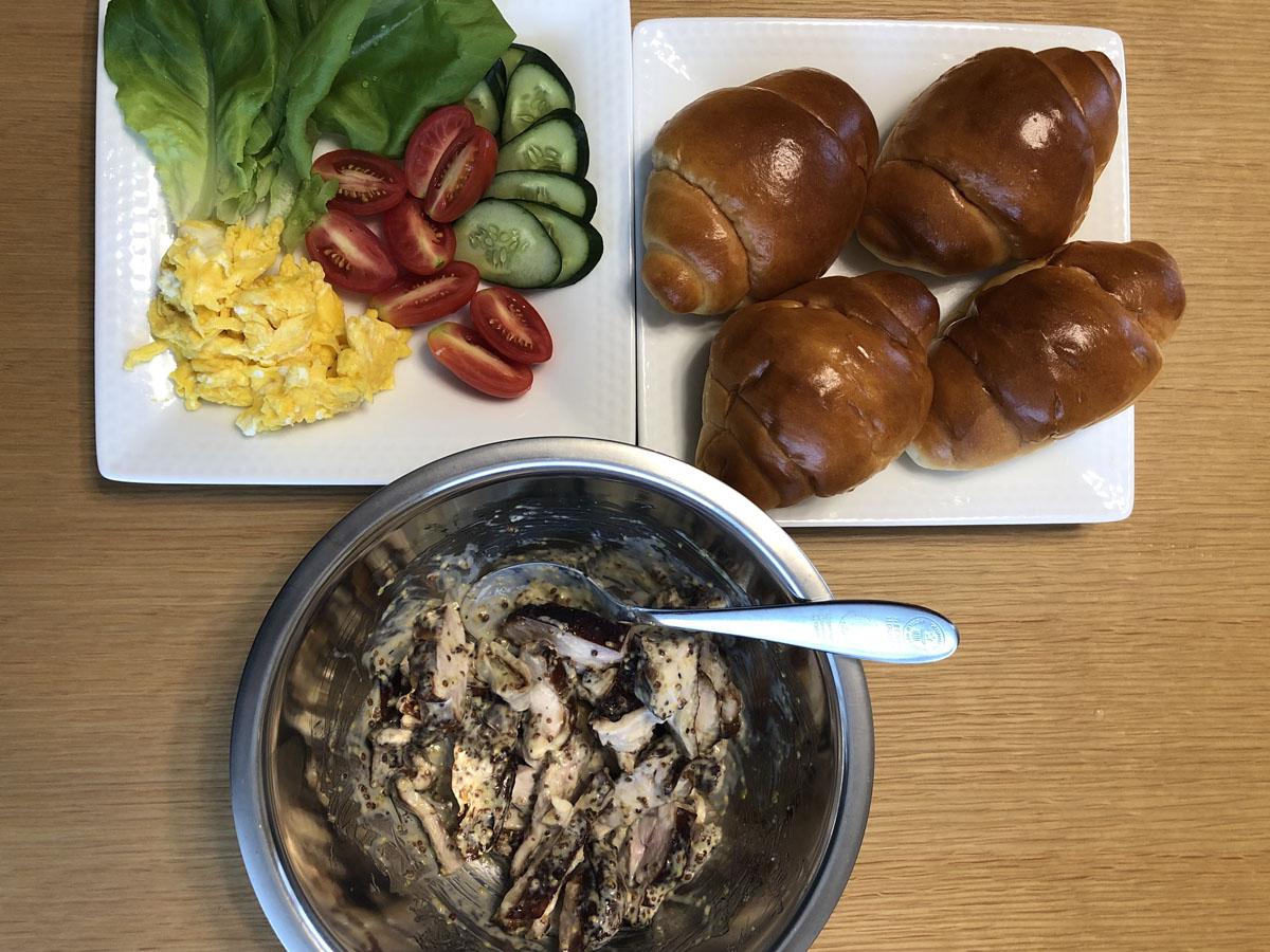 家men,燻製,スモークチキン,サンド,レシピ,作り方
