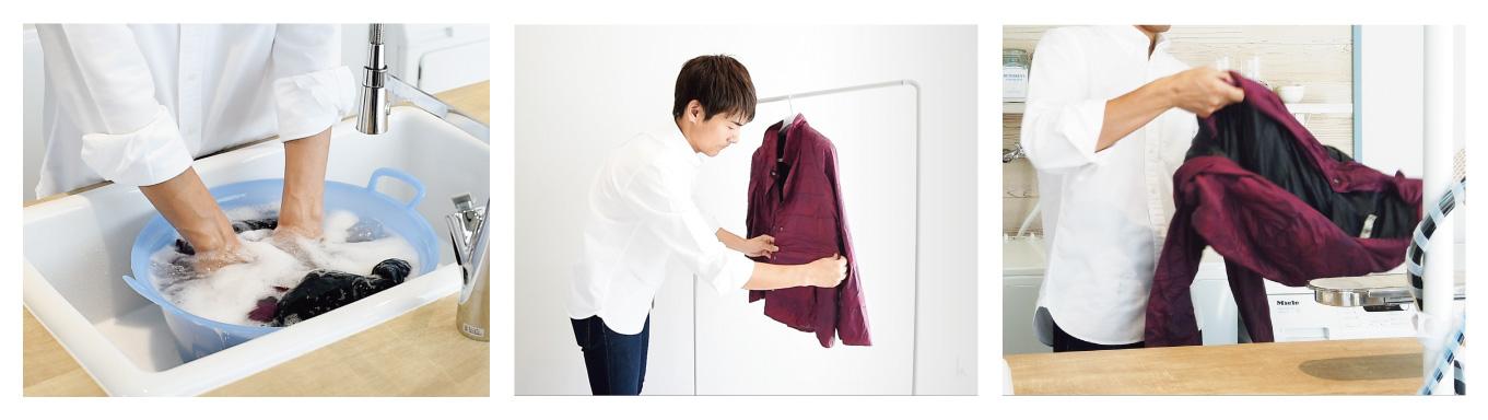 家men,洗濯家,中村祐一,冬服,セーター,ダウン,手洗い