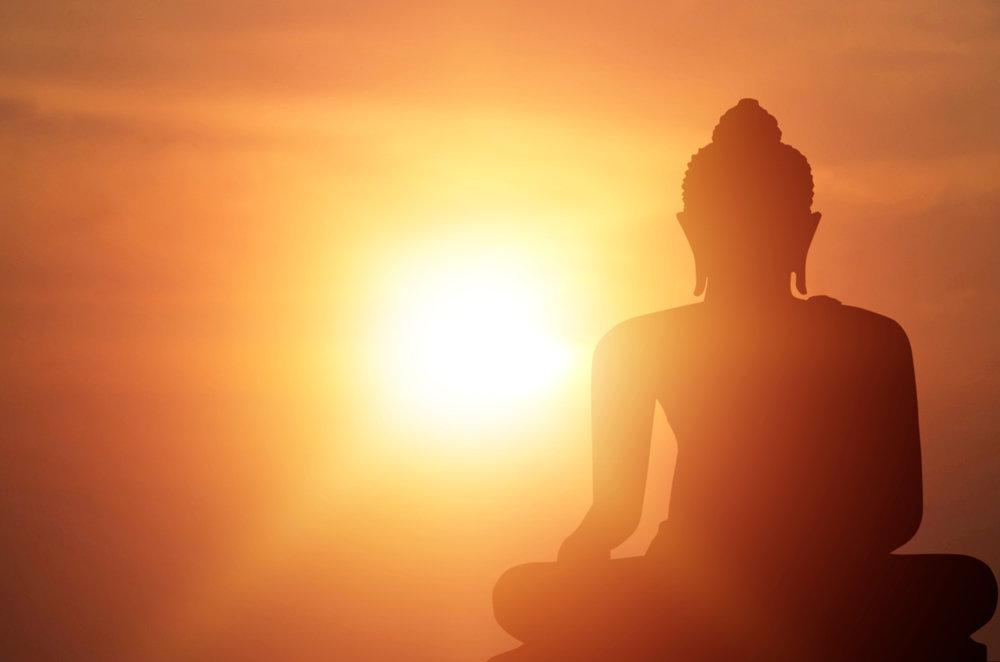 仏陀のシルエット