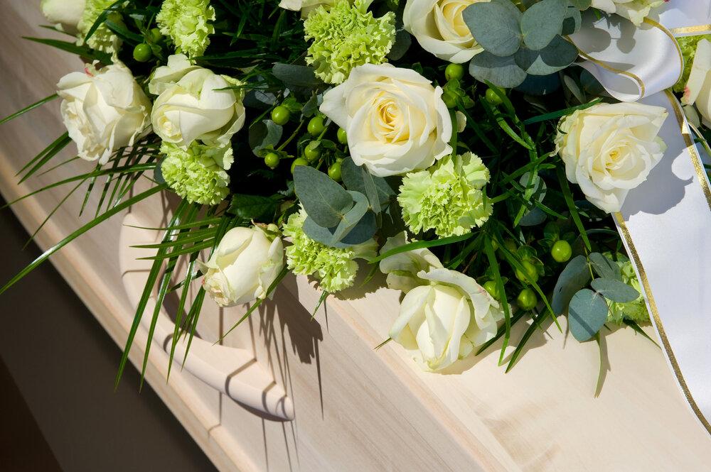 白と緑の花束