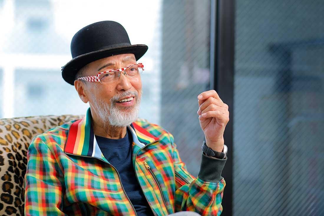 テリー伊藤さんの取材写真