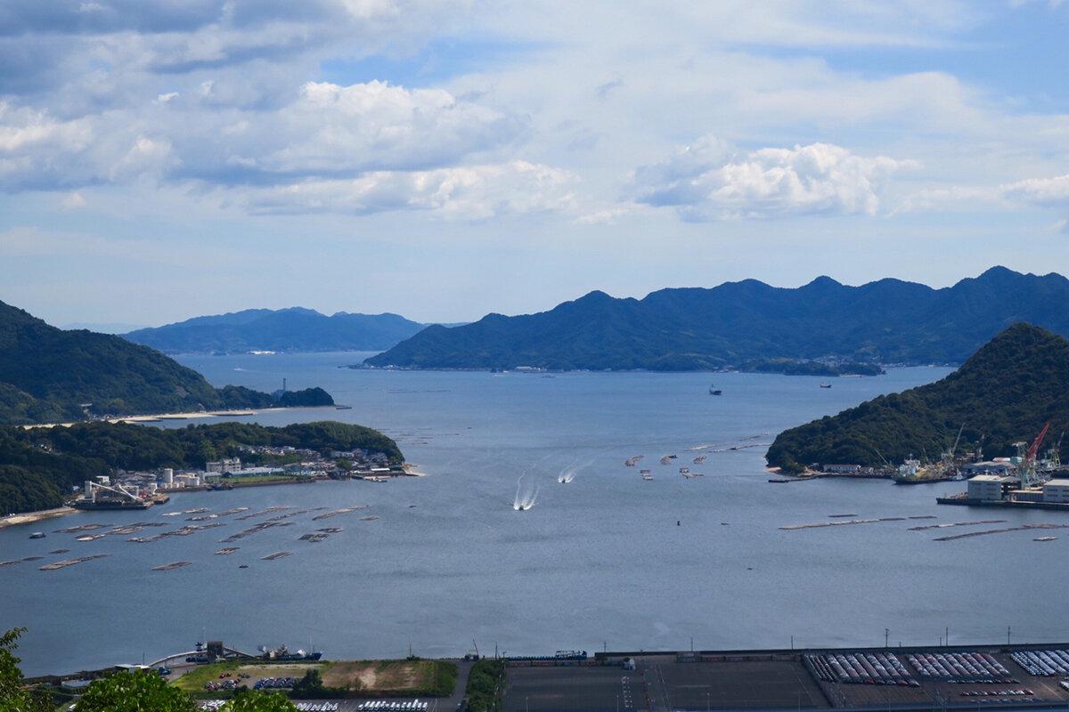 瀬戸内海に広がる「広島湾」