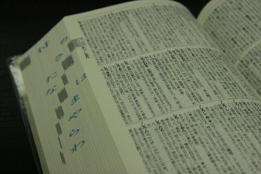 開かれた辞書のページ
