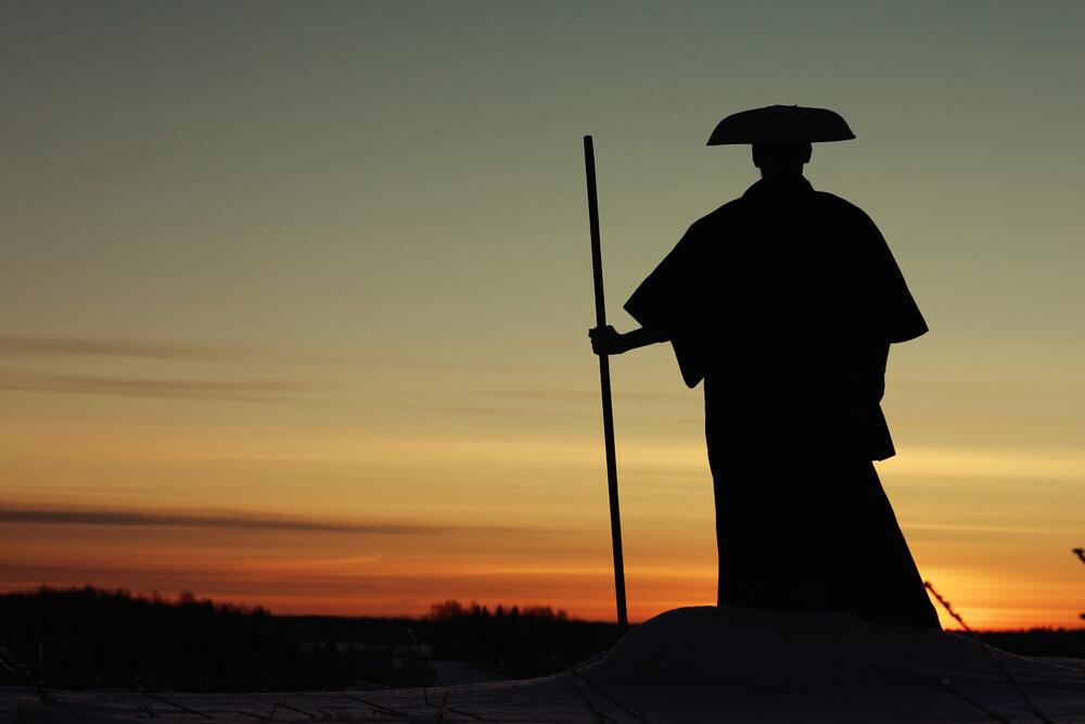 修行中の僧侶