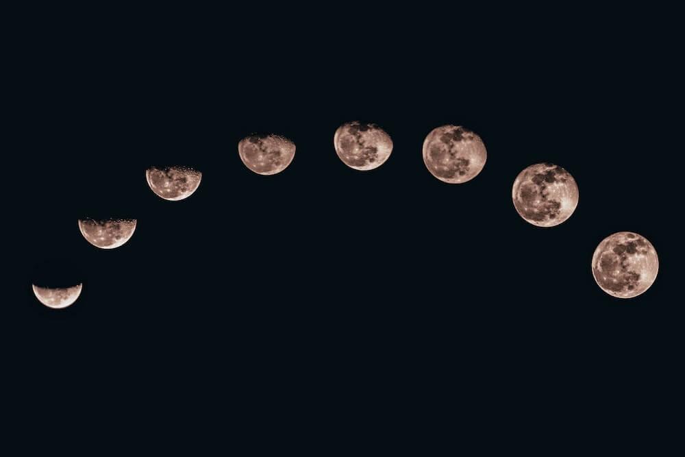 月の満ち欠けの様子