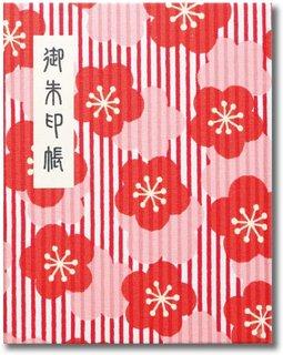 梅の柄が可愛い御朱印帳です。60ページブック式でビ...