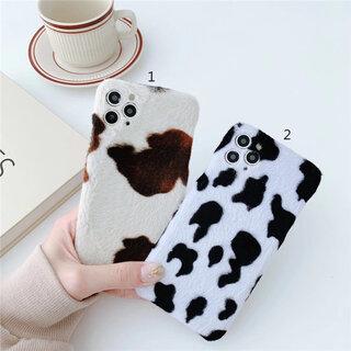 【お取り寄せ商品】iPhoneケース 起毛 ウシ 牛柄 COW柄 オシャレ 可愛い 干支 2021 1589 | Luke* (5381)
