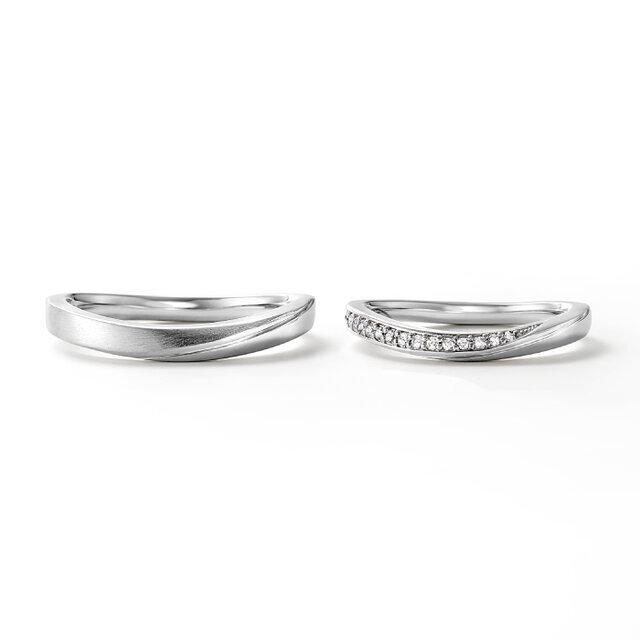 フェスタリアのU字ラインの結婚指輪