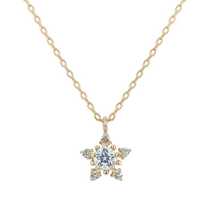"""フェスタリアのK10イエローゴールド """"Wish upon a star®""""ダイヤモンド ペンダント"""