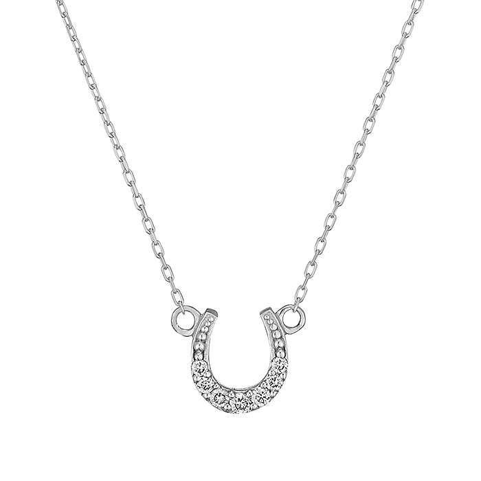 フェスタリアのK10ホワイトゴールド ダイヤモンド ネックレス