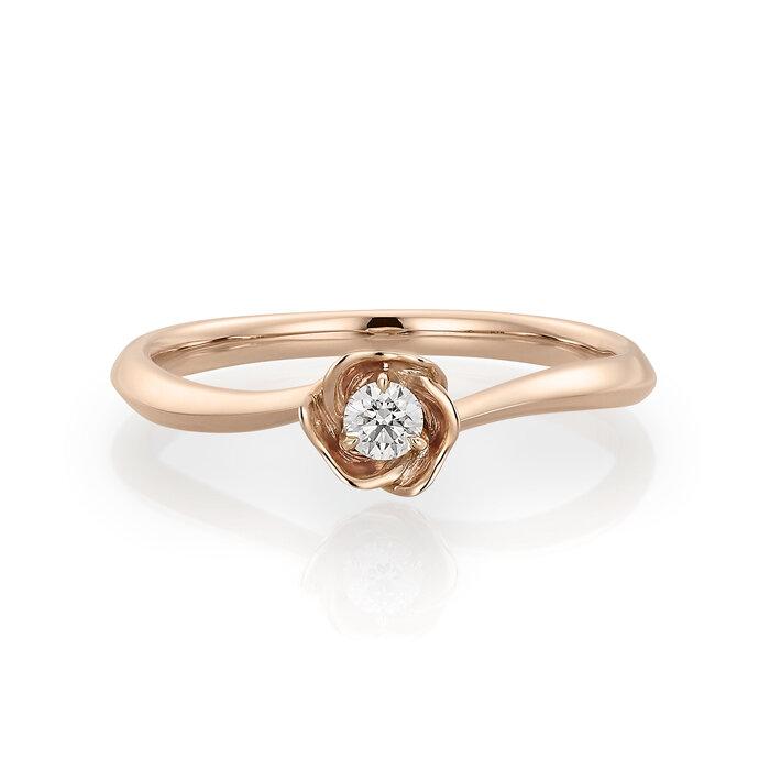 フェスタリアのK10ピンクゴールド ダイヤモンド リング