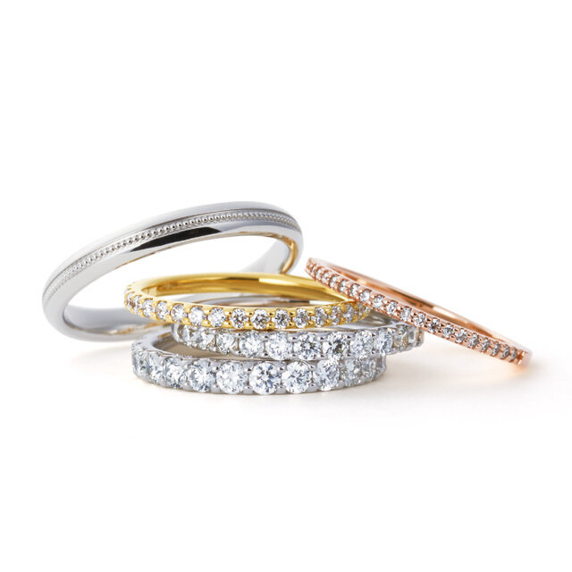 カスタマイズできる結婚指輪