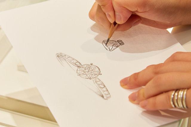 フェスタリア銀座店 リングのフルオーダーメイドを担当するデザイナー イ・ソヒョンさんの画像