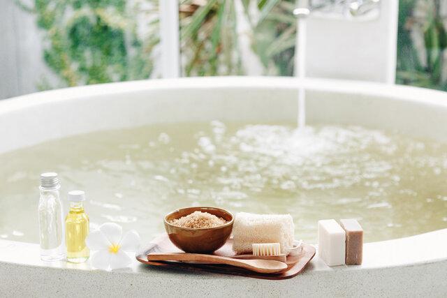 手や指を温めるためのお風呂