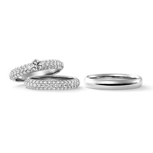 人気の高い婚約指輪デザインであるパヴェ
