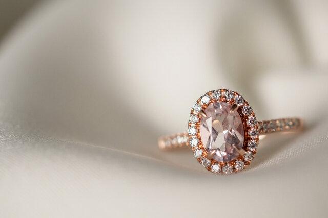 ピンクダイヤモンドの指輪