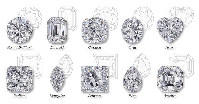 さまざまなシェイプのダイヤモンド