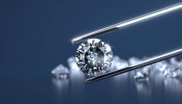 ダイヤモンドのラウンドブリリアントカット